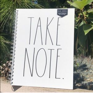 "RAE DUNN🎉""TAKE NOTE""Spiral NoteBook🎉"
